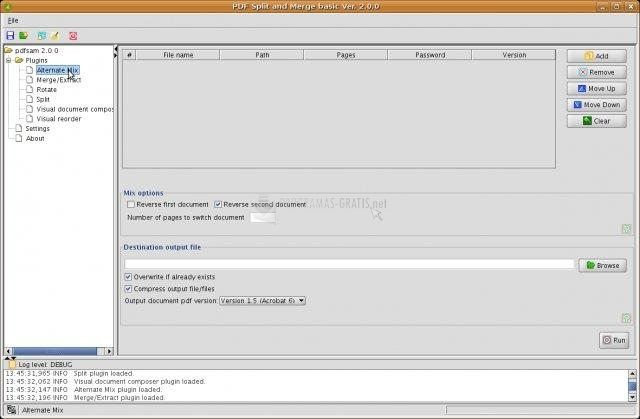 Pantallazo PDF Split and Merge