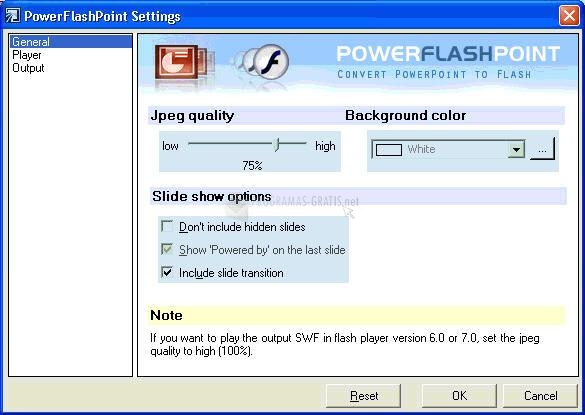 Pantallazo PowerFlashPoint