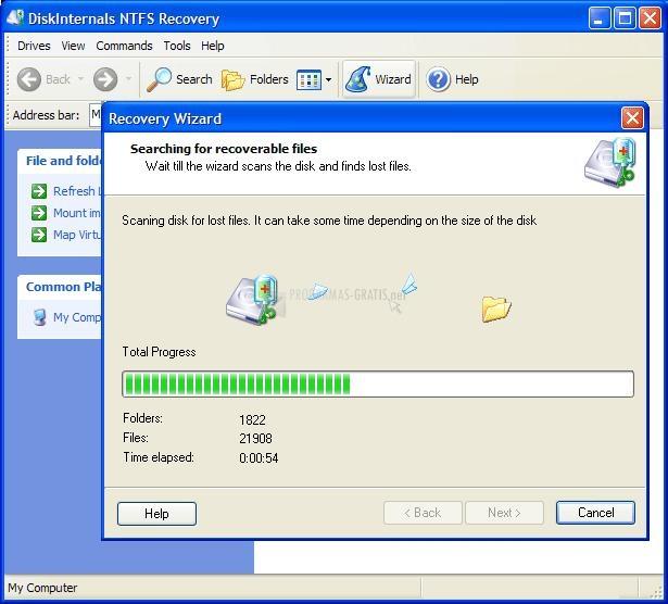 Pantallazo 1st NTFS Recovery
