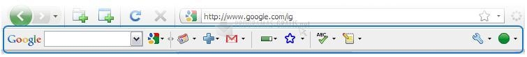 Pantallazo Google Toolbar