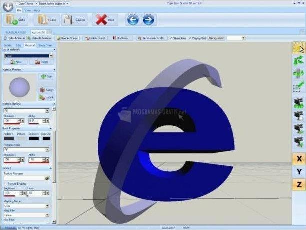 Pantallazo Tiger Icon Studio 3D