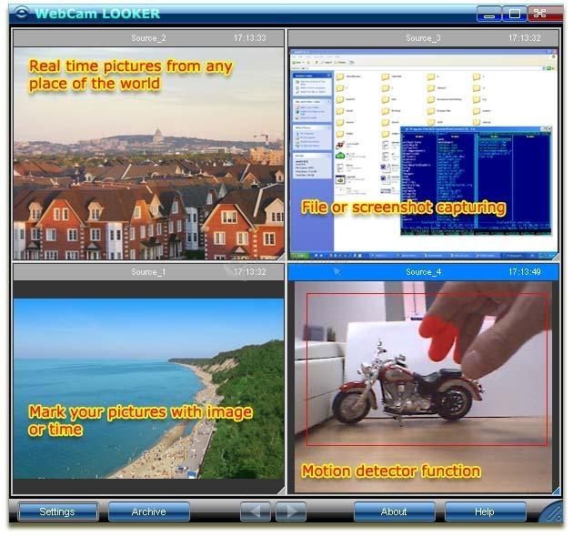 Pantallazo WebCam Looker
