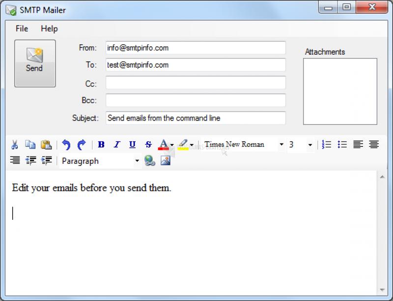 Pantallazo Simple Mailer
