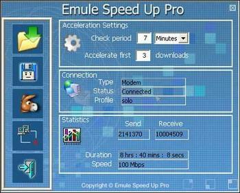 Pantallazo Emule Speed Up Pro