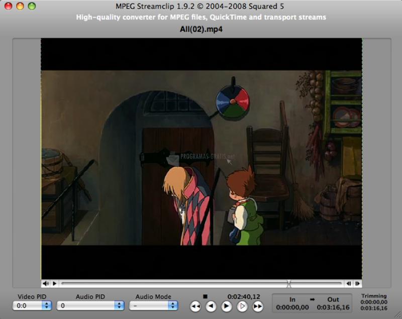 Pantallazo MPEG Streamclip