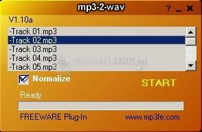 Pantallazo MP3-2-WAV Converter