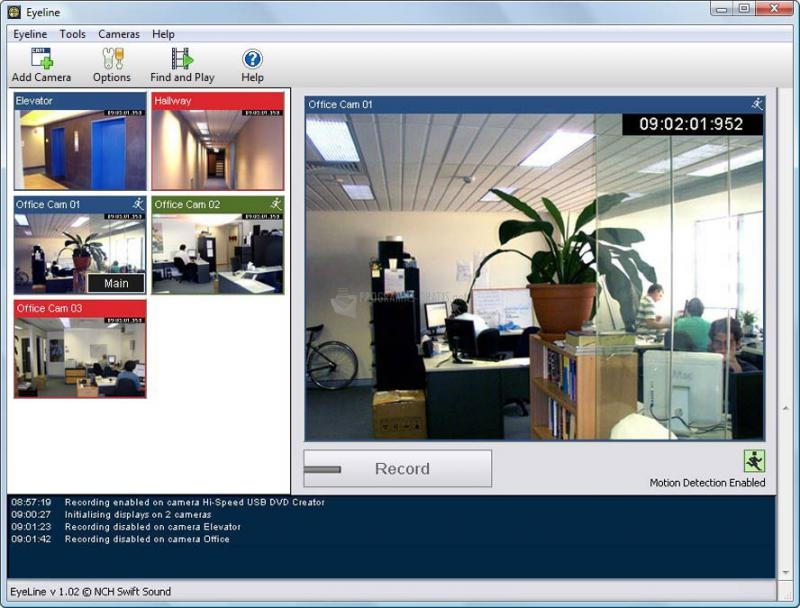 Pantallazo EyeLine Video Surveillance Software