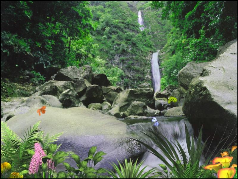 Pantallazo Jungle Waterfall