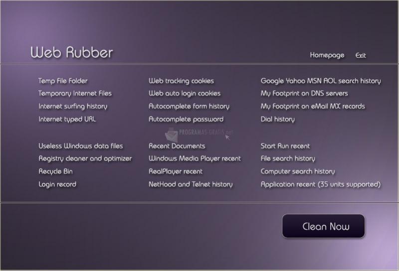 Pantallazo Web Rubber