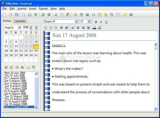 Pantallazo Effective-Journal