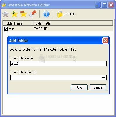 Pantallazo Invisible Private Folder