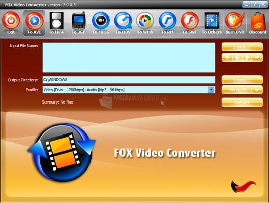 Pantallazo Fox Video Converter
