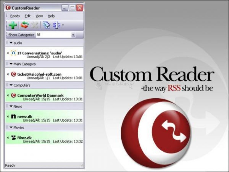 Pantallazo Custom Reader