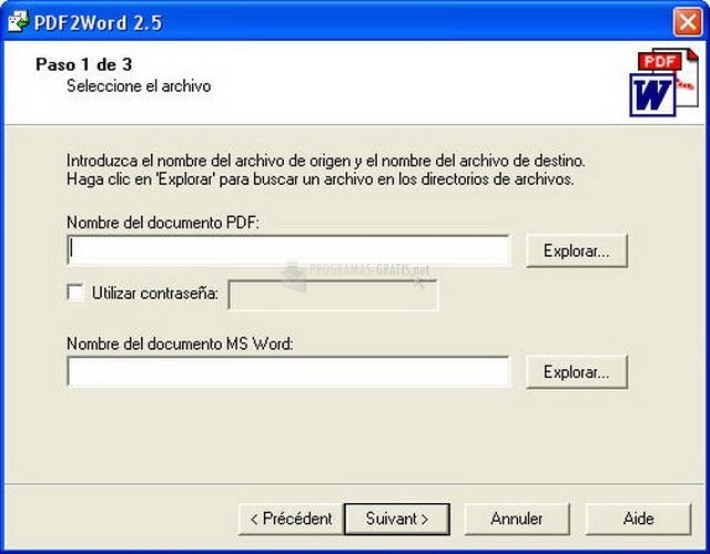 Pantallazo Avanquest PDF-to-Word