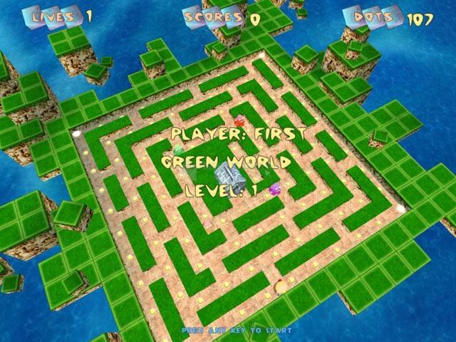 Pantallazo Pacmanic Worlds 3D