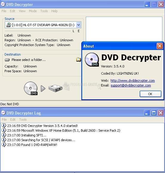 dvd decrypter 3.5.4.0 gratis en espaol