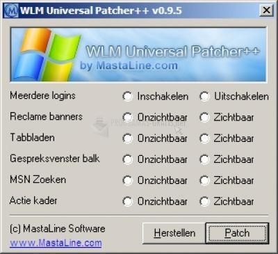 Pantallazo Windows Live Messenger Universal Patcher