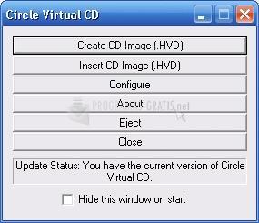 Pantallazo Circle Virtual CD