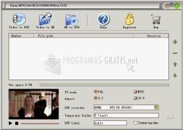 Pantallazo Easy MPEG/AVI/DIVX/WMV/RM to DVD
