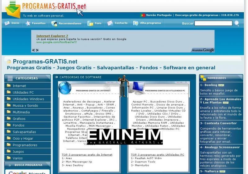 Pantallazo Eminem Screenmate