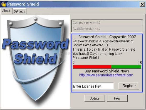 Pantallazo Password Shield