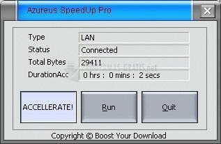 Pantallazo Azureus SpeedUp Pro