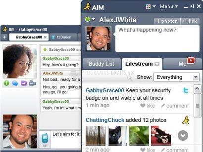 Pantallazo AIM Instant Messenger