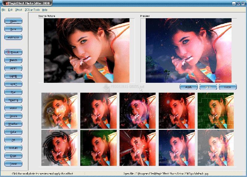 Pantallazo MagicEffect Photo Editor