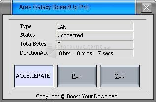 Pantallazo Ares Galaxy SpeedUp Pro
