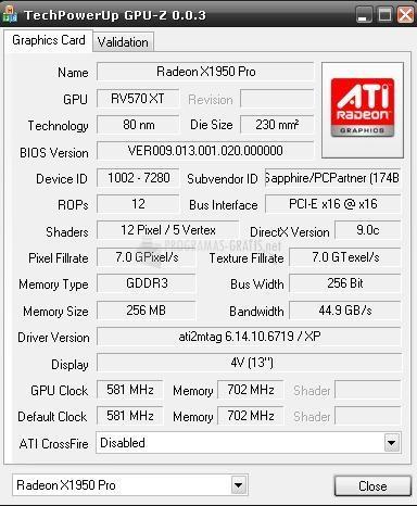 Pantallazo GPU-Z