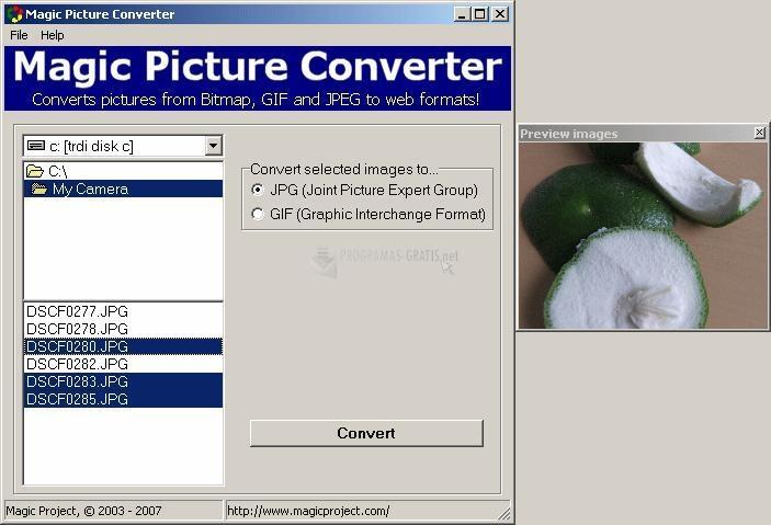 Pantallazo Magic Picture Converter