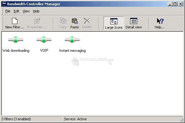 Pantallazo Bandwidth Controller Standard