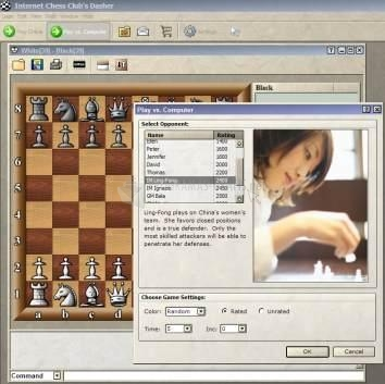 Pantallazo Internet Chess Club Dasher