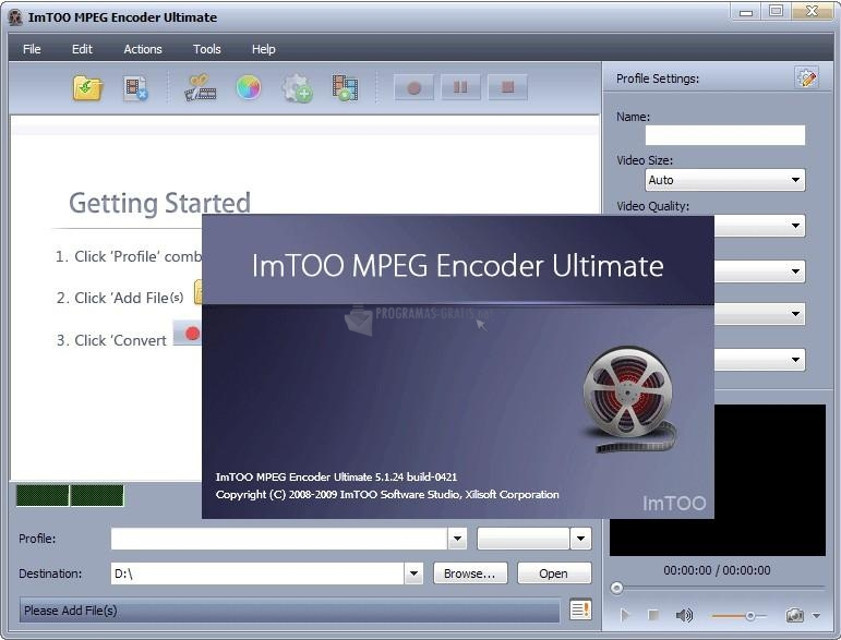 Captura ImTOO MPEG Encoder