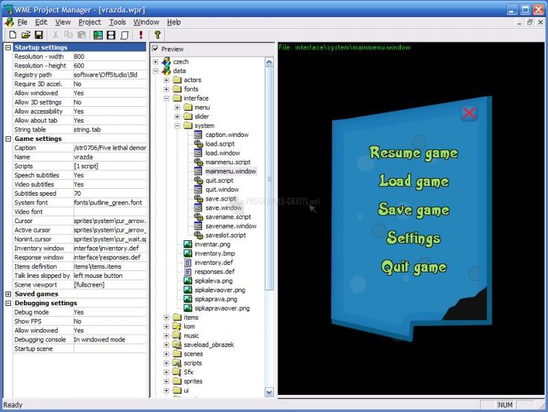 Pantallazo Wintermute Engine Development Kit