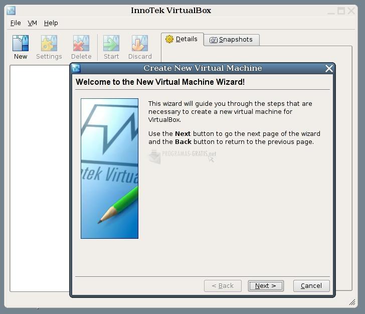 Pantallazo VirtualBox