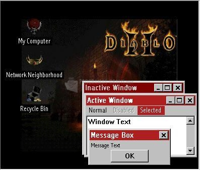 Pantallazo Diablo II Themes