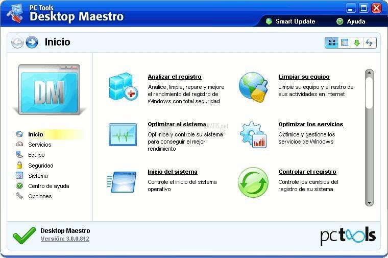 Pantallazo Desktop Maestro