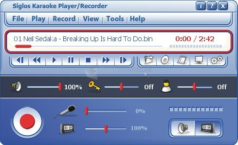 Screenshot Siglos Karaoke Player Recorder