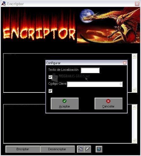 Pantallazo Encriptor