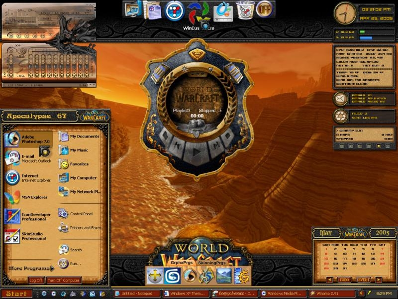 Pantallazo World of Warcraft Theme