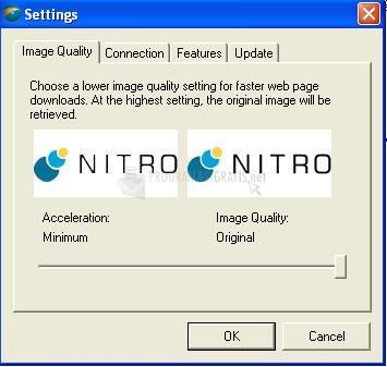 Pantallazo Nitro Web Accelerator