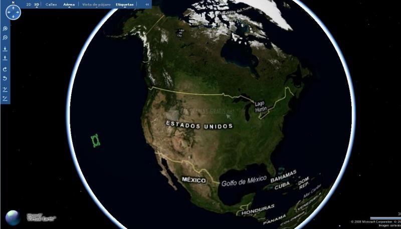 Pantallazo Microsoft Virtual Earth 3D Beta