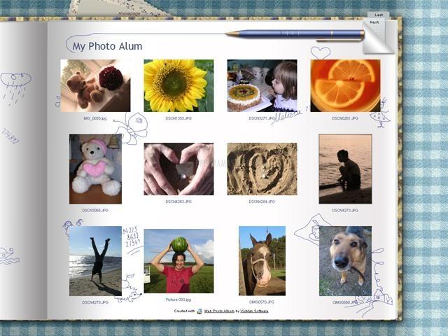 Pantallazo Web Photo Album