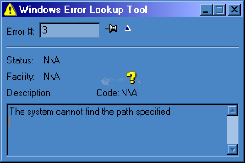 Pantallazo Windows Error Lookup Tool
