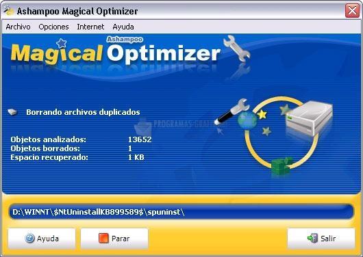 Pantallazo Magical Optimizer