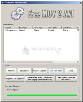 Pantallazo Free MOV 2 AVI