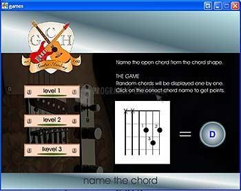 Pantallazo Guitar Chord Game
