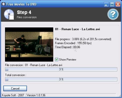 Pantallazo Free Movies to DVD