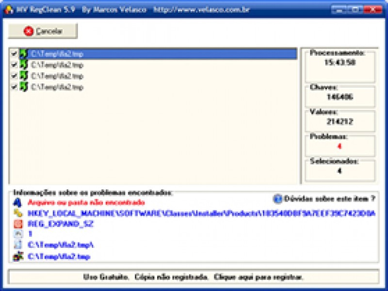 Pantallazo Portable MV RegClean